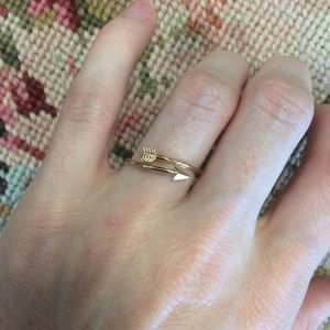 Mini Golden Arrow Ring